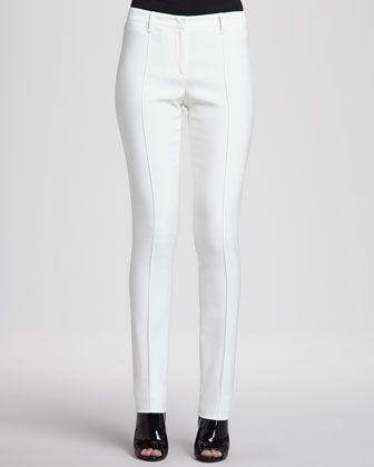 Straight-Leg Center-Seam Trousers