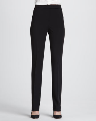 Straight-Leg Suiting Pants