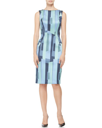 Printed Side-Seamed Sheath