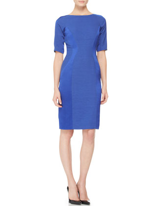 Short-Sleeve Paneled Dress