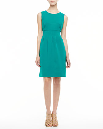 Sleeveless Classic Sheath Dress, Jade