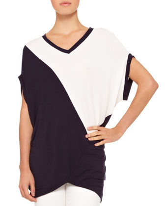Featherweight Jersey Two-Tone Tunic