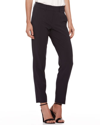 Slim-Leg Cropped Trousers