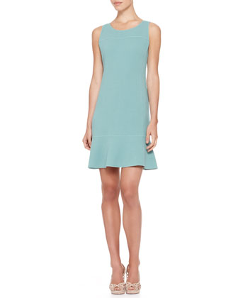 Sleeveless Flare-Hem Dress