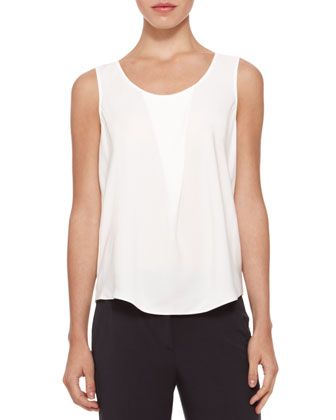 Stretch-Silk Draped Top