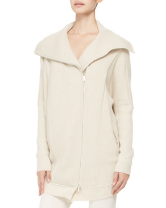 Oversized Cashmere Zip Coat