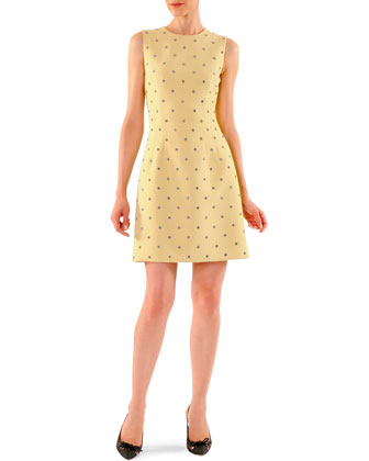 Dotted-Crystal A-Line Dress