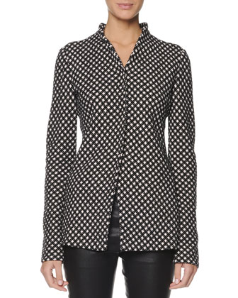 Jacquard Check Snap Jacket