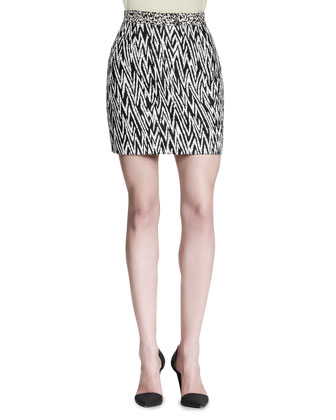 Abstract-Print Miniskirt