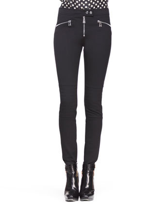 Barbican Skinny Stretch Moto Pants
