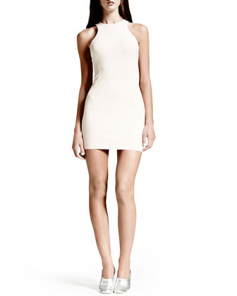 Cut-In Sleeveless Sheath Dress, Rose