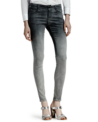 Skinny Degrade Jeans, Black/Gray