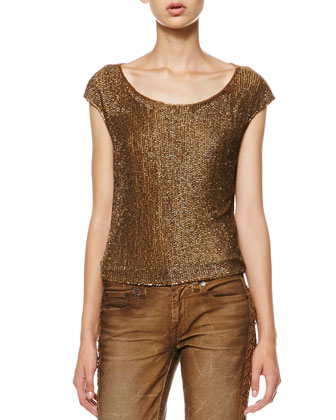 Diane Beaded-Front Top