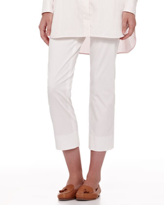 Giles New Baker Cropped Pants, White