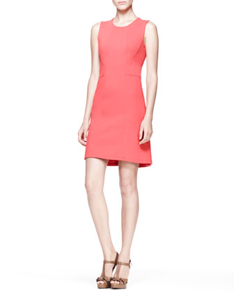 Weston Piped Twill Shift Dress