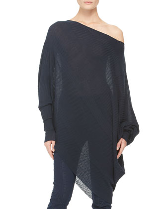 Long-Sleeve Asymmetric Top