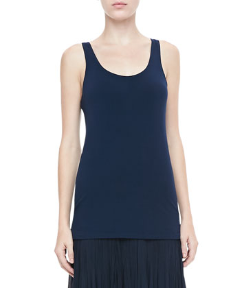 Jersey Scoop-Neck Tank, Ink