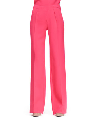 Eugene Fold-Back Top and Adara Wide-Leg Trousers