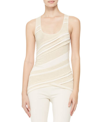 Bicolor Asymmetric-Band Tank