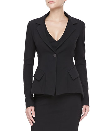 Stretch Modern-Peplum Jacket