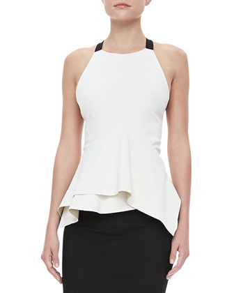 Cross-Back Peplum Top