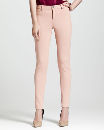 Jean-Inspired Leggings, Beige