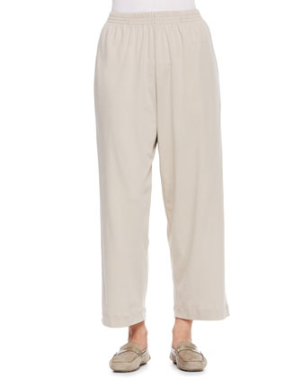 Cotton Japanese Trousers, Stone