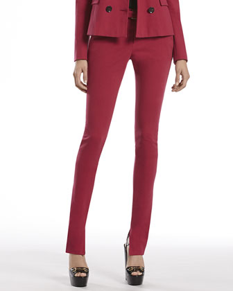 Cherry Stretch Cotton Slim Pants