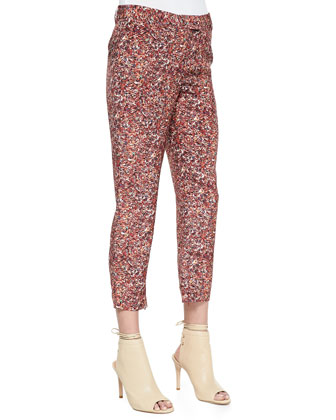Printed Silk Georgette Pants