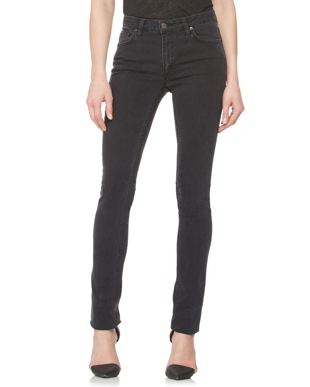 Acne Studios Faded Denim Skinny Jeans, Used Black - USED BLACK (26)