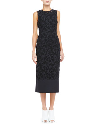 Midi Lace Evening Dress