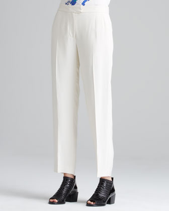 Tuxedo Pants with Stripe, Alabaster