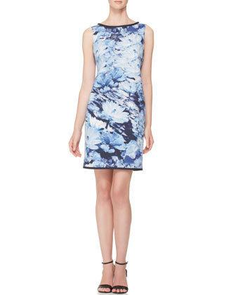 Floral Poplin Shift Dress