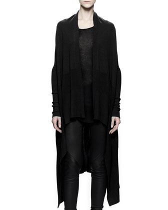 Long Knit Wrap, Black