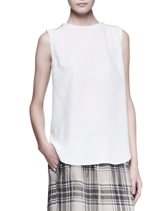 Sleeveless Monili-Shoulder Top