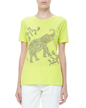 Short-Sleeve Elephant Tee, Citrine