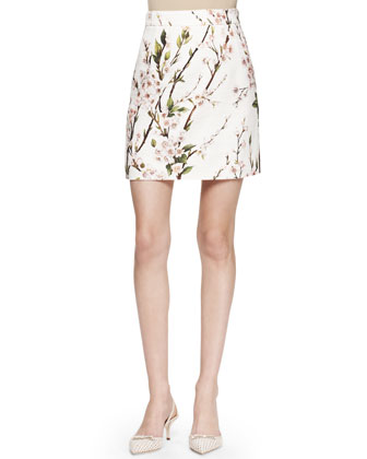 Slim Printed Straight Skirt