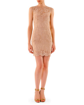 Above-Knee Lace Sheath Dress