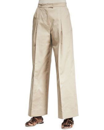 Full-Leg Gabardine Trousers