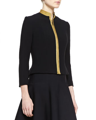 Andover Passementerie Wool Jacket and Raynor Neoprene A-Line Dress
