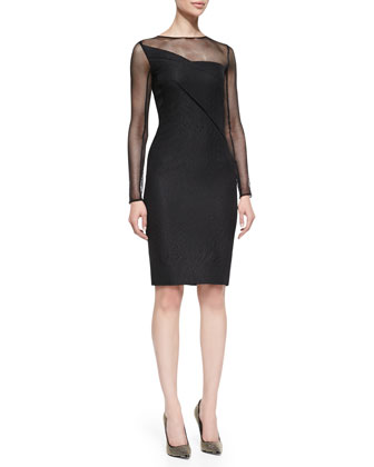Magnolia Embossed Honeycomb-Net Dress