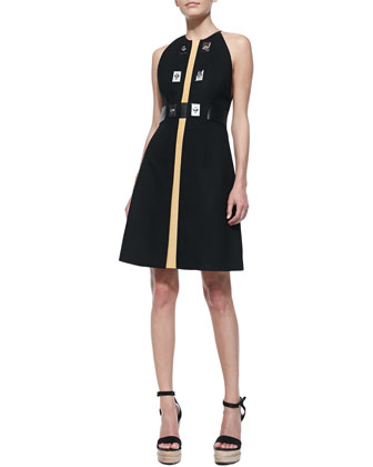 Sleeveless Dress with Turn-Locks