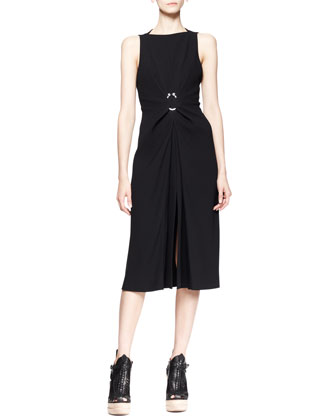 Sleeveless Hook-Waist Dress