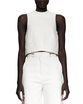 Cropped Folded Sleeveless Top