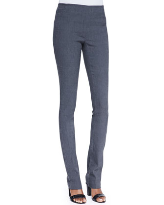 Pull-On Pants with Seam Detail, Granite