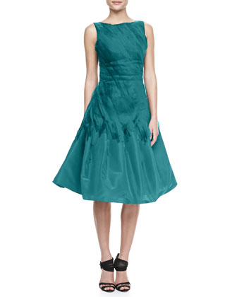 A-Link Cocktail Dress with Chiffon Ribbons