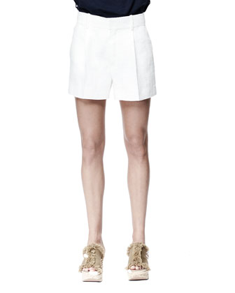 Light Rustic Tweed Shorts, Ivory