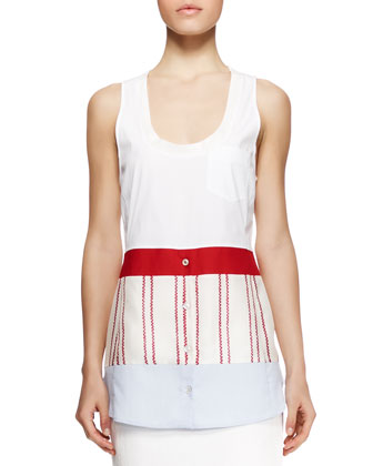 Saki Mixed Pocket Tank Top
