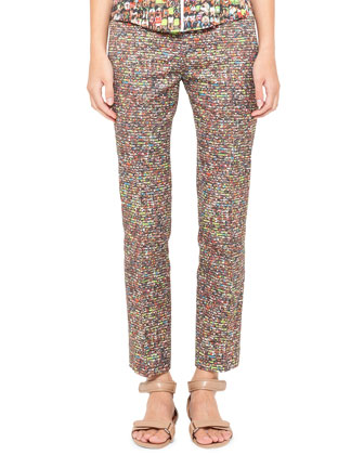Franca Cropped Stadium-Print Pants