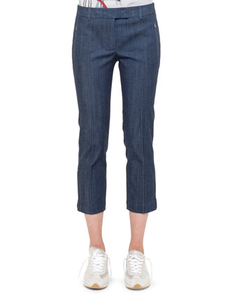 Fabricia Cropped Denim Pants